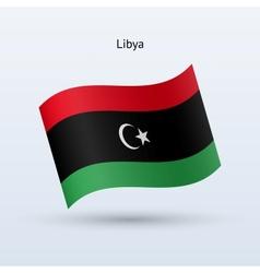 Libya flag waving form vector image