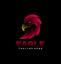 Logo eagle gradient colorful style vector