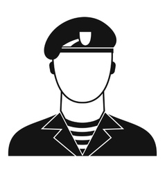 Modern army soldier icon simple style vector