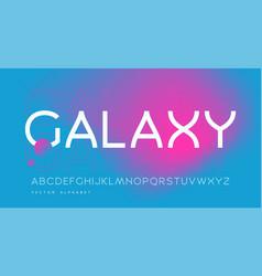 modern sans serif alphabet uppercase vector image