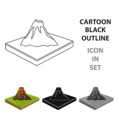 Mountainsvolcano and landscape relief and vector