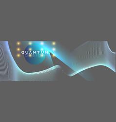 neon spotlights on fluid abstract design vector image