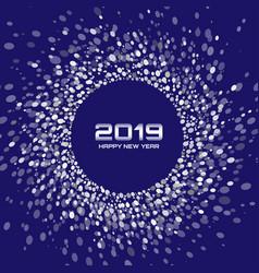 new year 2019 card christmas circle frame vector image