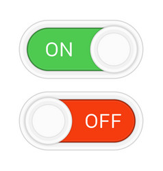 on and off slider buttons vector image