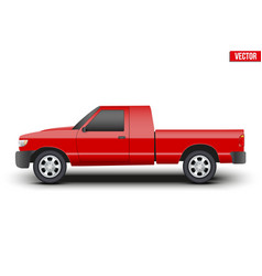 Original classic red Pickup truck vector image