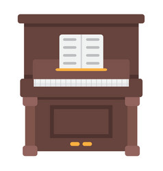 Piano flat icon music and instrument vector