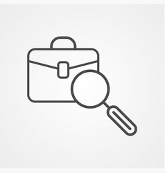 portfolio search icon sign symbol vector image
