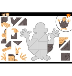 Preschool jigsaw puzzle task vector