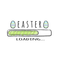 progress bar with inscription - easter loading vector image
