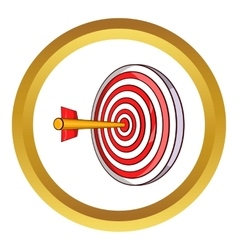 Red target and dart icon vector