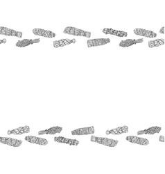 Sage smudge sticks hand-drawn letter format vector