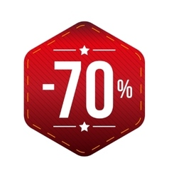 Sale seventy percent off banner red patch vector