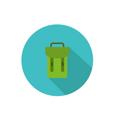 Schoolbag icon in on white background vector