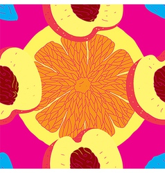 Seamless Fruit Citrus Pattern vector image