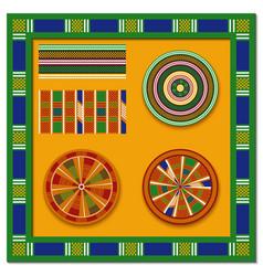 set african decorative elements tribal print vector image