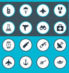 Set simple terror icons vector