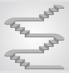Staircase 3d vector