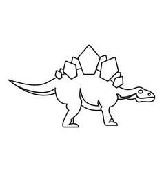 Stegosaurus icon outline style vector