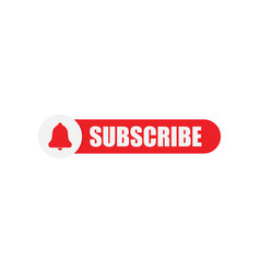 Subscribe button isolated logo vector