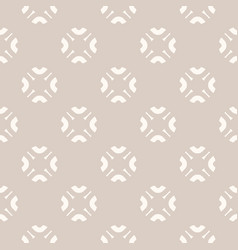 subtle abstract seamless floral pattern in beige vector image