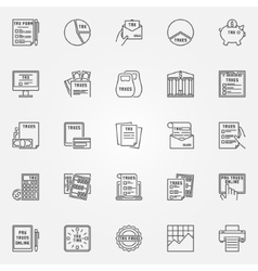 Tax icon set vector image