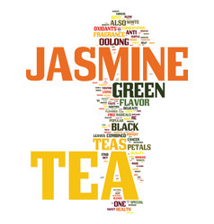 Tea what is jasmine tea text background word vector