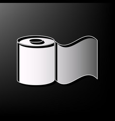 Toilet paper sign gray 3d printed icon on vector