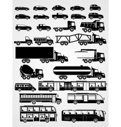 Transport and vehicle set vector image