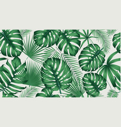 trendy seamless tropical pattern with exotic vector image