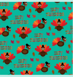 Turkey thanksgiving pattern vector