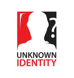 Unknown identity icon vector