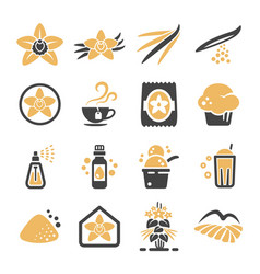 Vanilla icon vector