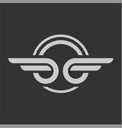 Wing automotive emblem logo template vector
