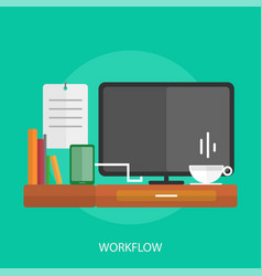 Workflow conceptual design vector