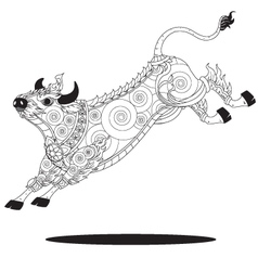 bull Thai graphic vector image vector image