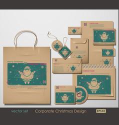 christmas branding vector image vector image