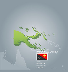 papua new guinea information map vector image
