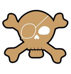 Pirate skull icon vector