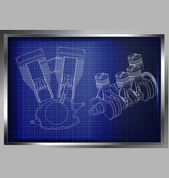 the car engine vector image
