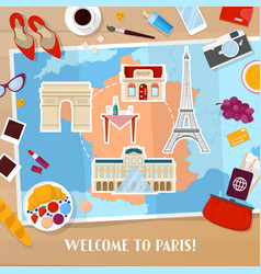 travel to paris france tourism and vacation vector image