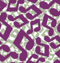 Violet musical notes seamless pattern geometric vector image