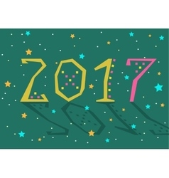 2017 background Calendar template vector image
