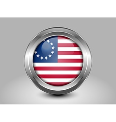 American Betsy Ross Flag Metal and Glass Round Ico vector image