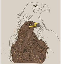 brown eagle vector image vector image
