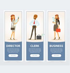 business group company staff business banners vector image vector image