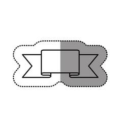 contour symbol ribbon icon vector image vector image
