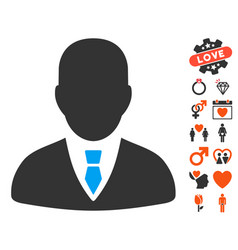 Manager icon with lovely bonus vector