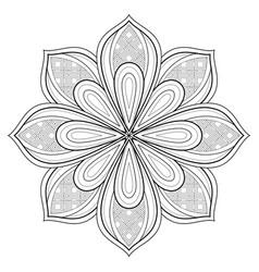 monochrome beautiful decorative ornate mandala vector image vector image