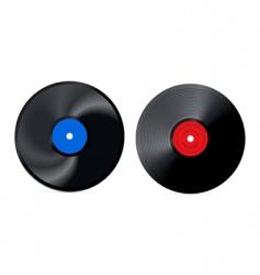 retro vinyl record vector image vector image