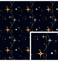 seamless pattern star background vector image vector image
